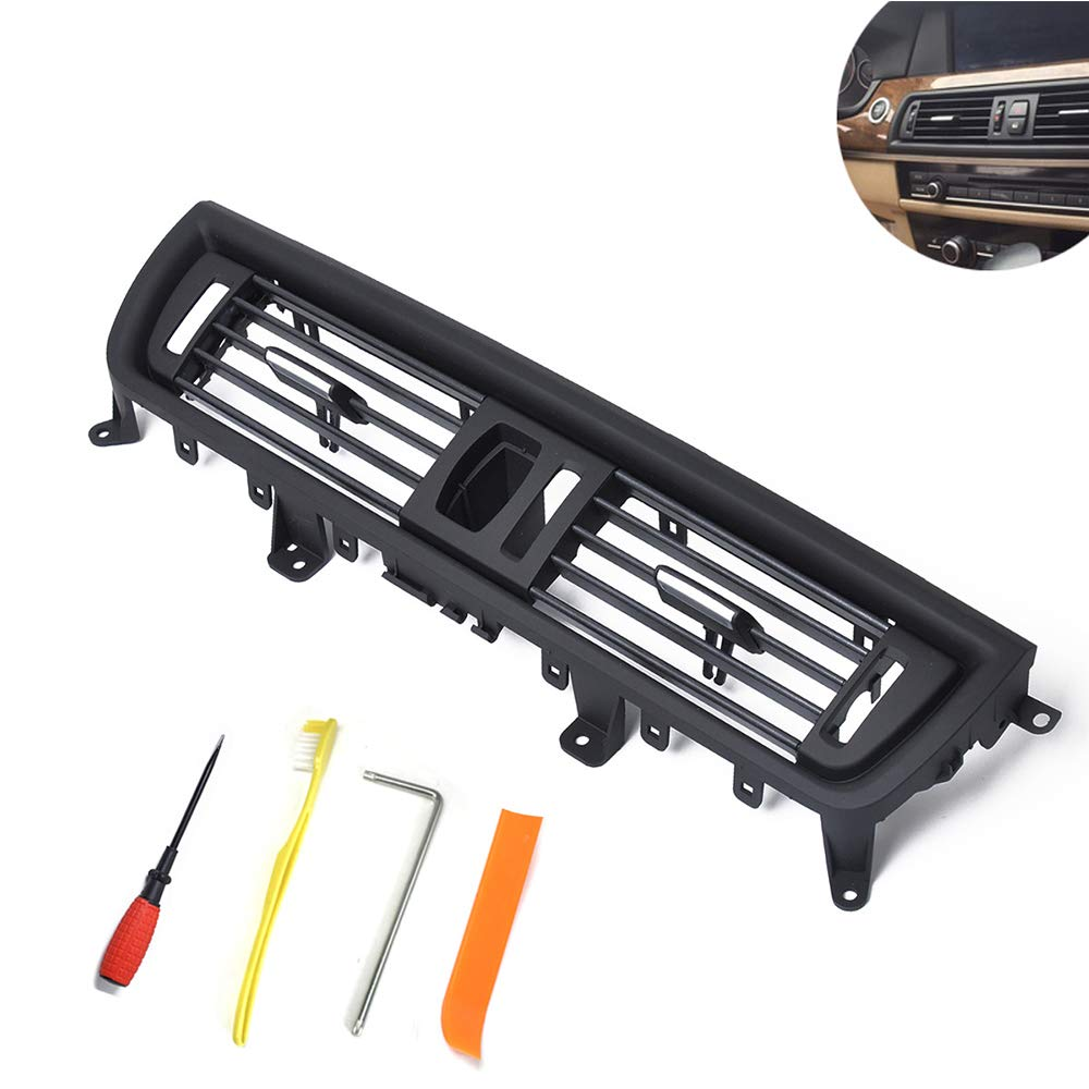 Sushiyi Gear Front Fresh Air Grille for BMW 5 Series, Console Grill Dash AC Air Vent for 2010-2016 BMW F10 F18 OE#64229166885 by Sushiyi Gear