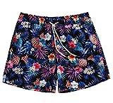 WUAMBO Men's Athletic Swimwear Quick Dry Shorts With Pocket Size Medium Waist:26''-28''