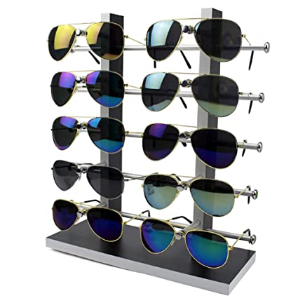 5ae32687d Amazon.com: Wood Sunglass Glass Rack Frame Glasses Display Stand Holder  Organizer Black: Home & Kitchen
