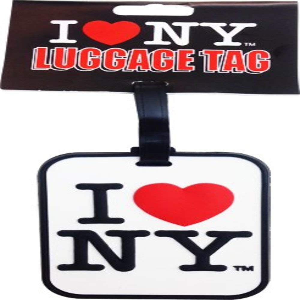 I Love New York Black Luggage Tag