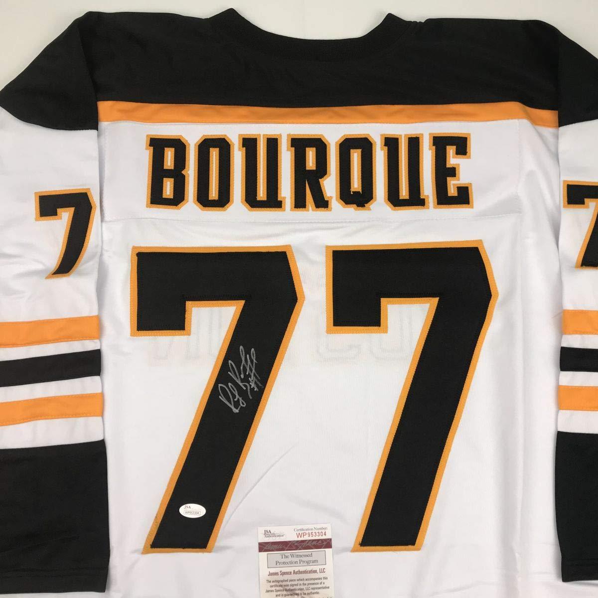 Autographed/Signed Ray Bourque Boston White Hockey Jersey JSA COA
