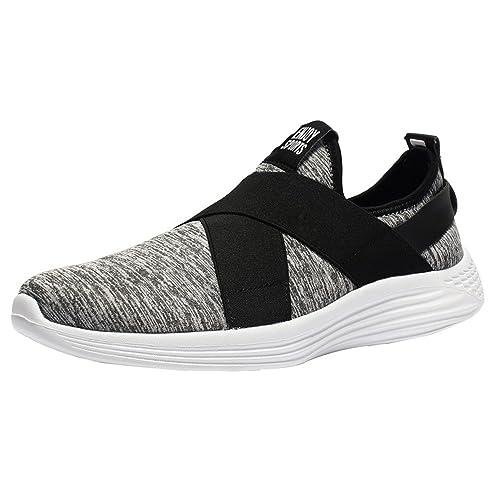 Zapatos Casual Hombre Zapatillas de Running Correr Sneakers Transpirables Respirable Deportes Gimnasio Aire Libre: Amazon.es: Zapatos y complementos