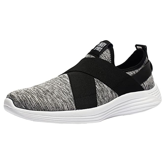 ZARLLE Zapatos Planos Zapatillas de Correr Casual Cómodas Calzado para Deporte Zapatos para Andar con Cordones Bambas de Gimnasia Running Deportivas ...