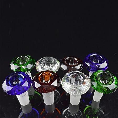 Heady Colored Diamond Male Glass Bowls 14mm 19mm Bong Bowl