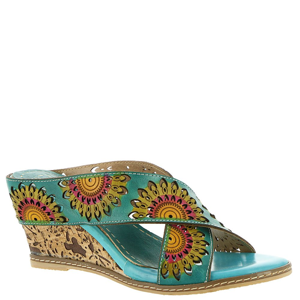 L'Artiste by Spring Step Women's Style Enticing Turquoise EURO Size 41 Leather Sandal