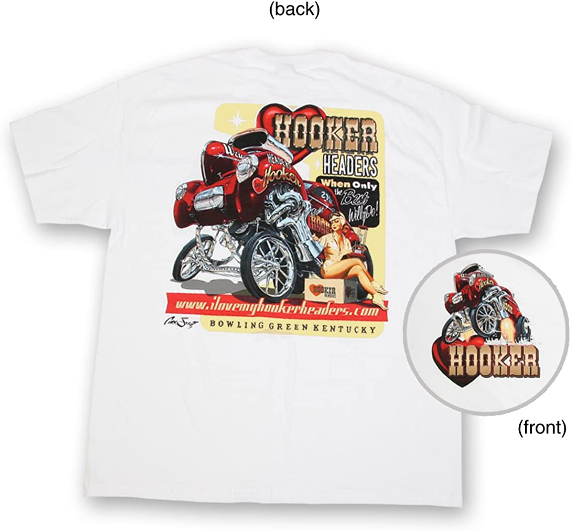 40-41 Willys Gasser T-Shirt Supercharged Gasser Mens T-Shirt By Hooker 10149HKR-Parent