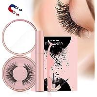 Magnetische Wimpern , Magnetic Eyeliner , 3D Künstliche Magnetische Wimpern, 5 Magnete Wimpern Mit Wasserdichtem Langlebigem Magnetic Eyeliner , Wiederverwendbare Falsche Magnetic Eyelashes