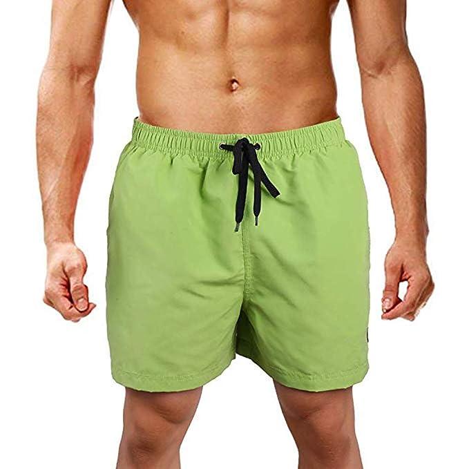 PARVAL Bañador para Hombre Pantalones Cortos de natación en la ...