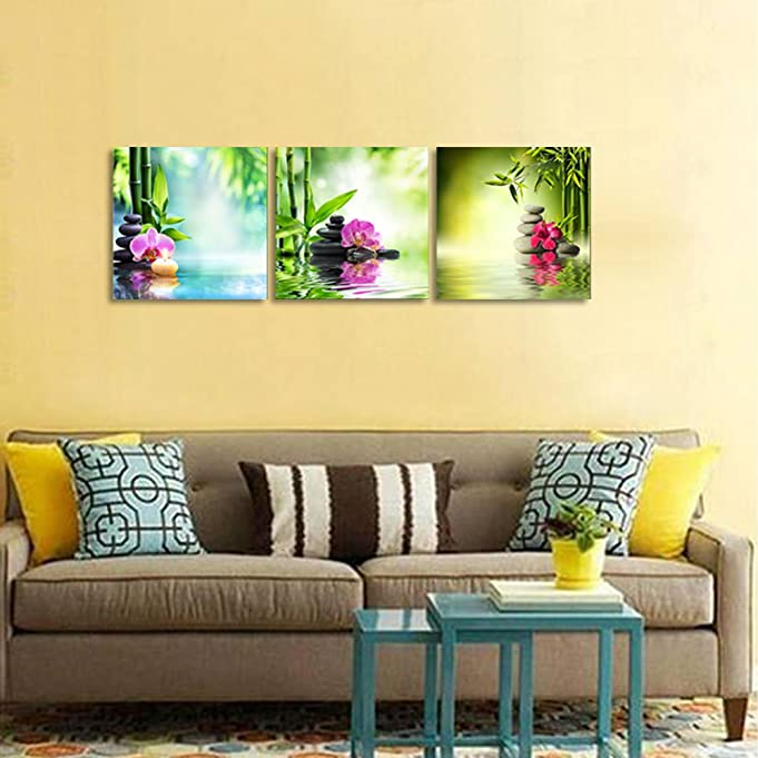 Amazon.com: Pyradecor 3 Piece Modern Stretched and Framed ...