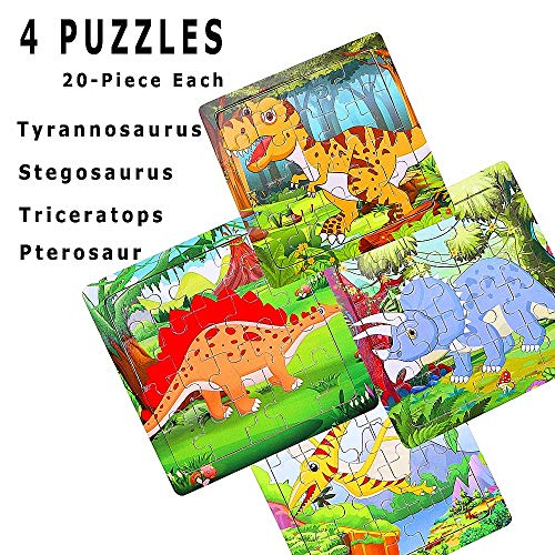 Marsjoy Polar Animals Puzzles for Kids Ages 3-8 ,Jigsaw Puzzles 100 Pieces Preschool Educational Learning Toys Set for Boys and Girls
