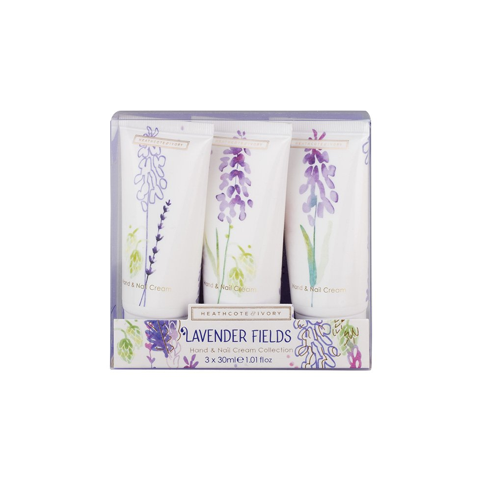 Heathcote & Ivory Lavender Fields Hand and Nail Cream Collection, 30 ml,Pack of 3 FG5705