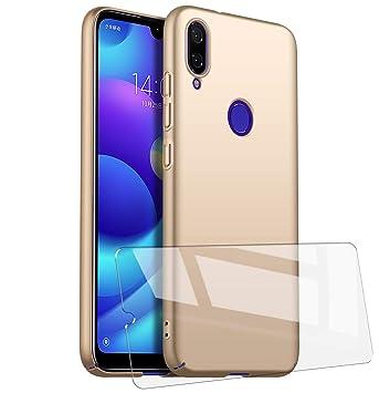 UCMDA Funda Xiaomi Redmi Note 7, Carcasa Redmi Note 7 con Protector de Pantalla, Fundas [Anti-Arañazo] Duro para Redmi Note 7 (Lanzado en 2019) - Oro