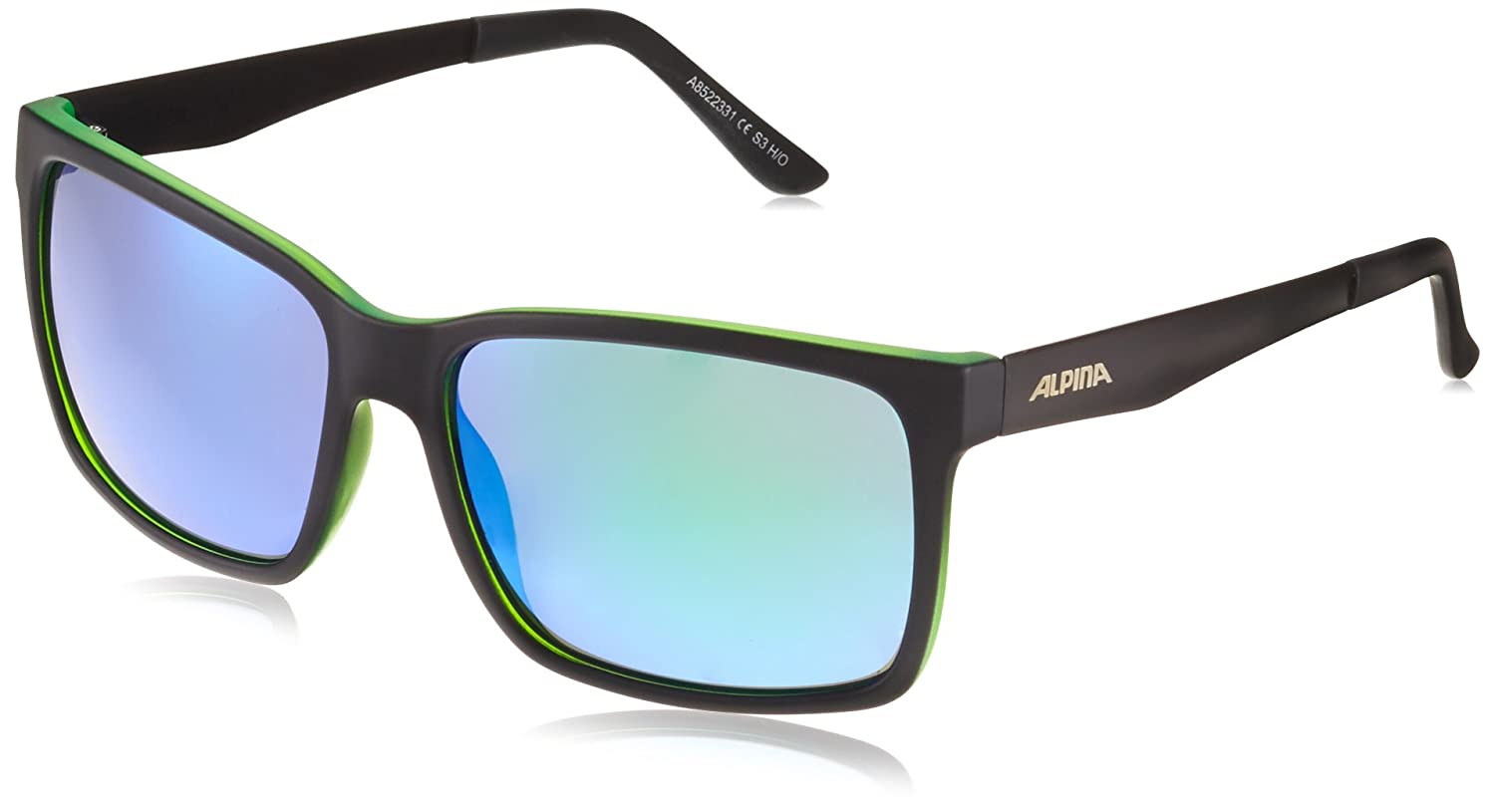Alpina Don Hugo sports glasses, Unisex A8522.3.33 Black Matt-Red One Size