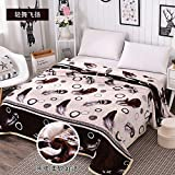 Znzbzt Winter coral fleece blanket blanket flannel blanket thick warm linens, plush blanket law twin single students, black and white tones, light dance arise