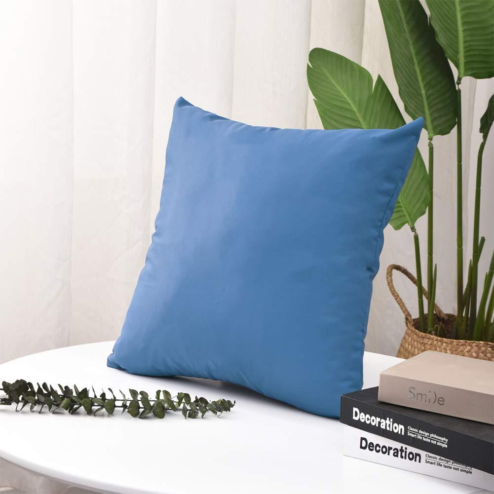 per Giardino Pannow 2 Pezzi Divano in Rattan Impermeabile Decorativa Divano Federa per Cuscino da Esterni Blue Prato Patio 50 x 50 cm