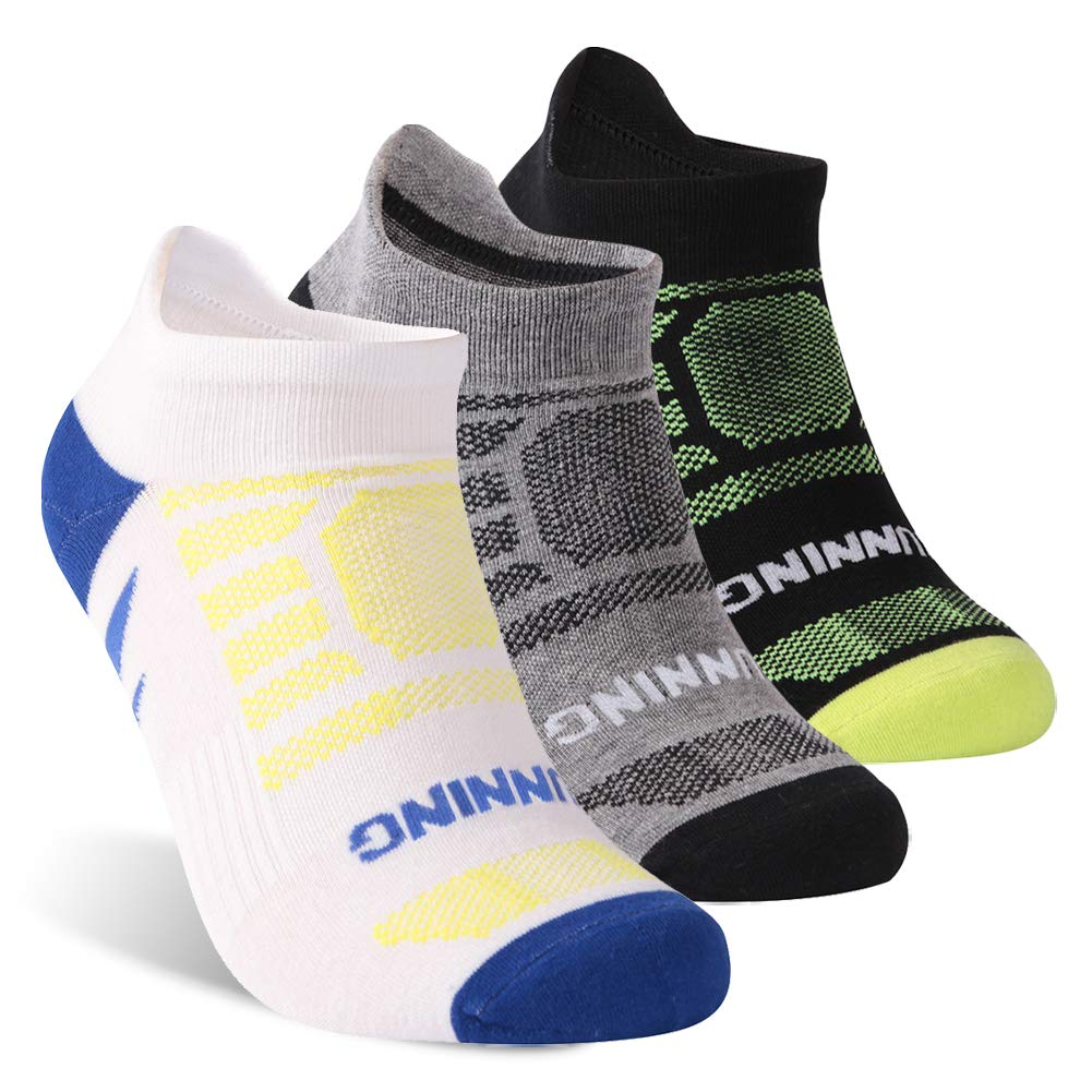 KitNSox Athletic Running Socks Low Cut, Men Women Cushioned Ankle No Show Sports Socks,1/3/6 Pairs