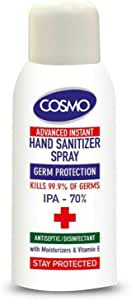 COSMO Advanced Instant Antiseptic & Disinfectant Hand Sanitizer Spray, 100 ml