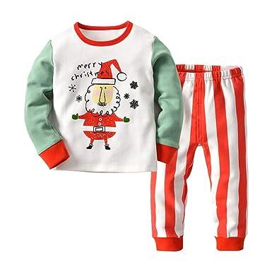 36969a3c79c24 Hzjundasi Kids Homewear Set Manches Longues + Pantalons - Pyjamas Bébé  Enfant Vêtements de Nuit Xmas