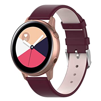 WEINISITE 20mm Pulsera para Samsung Galaxy Watch Active,Cuero ...