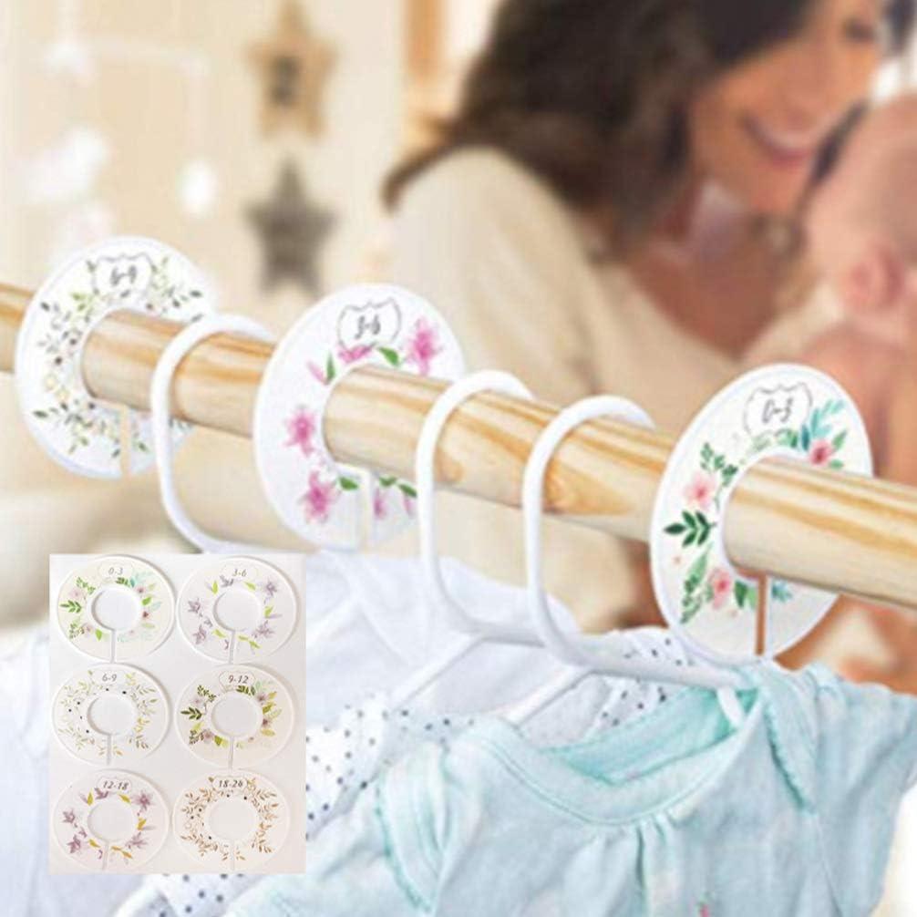 Hemoton Baby Schrank Gr/ö/ße Teiler Set von 6 Kinderzimmer Baby Schrank Kleiderteiler Baby Kinderzimmer Kleinkind Kleidung Gr/ö/ße Veranstalter Teiler