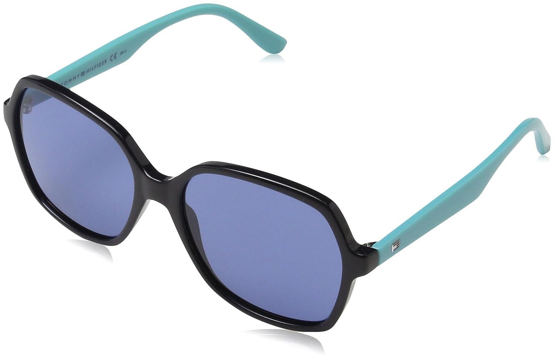 Tommy Hilfiger Sonnenbrille TH 1490/S Gafas de sol, Negro (Schwarz), 57.0 Unisex-Adulto