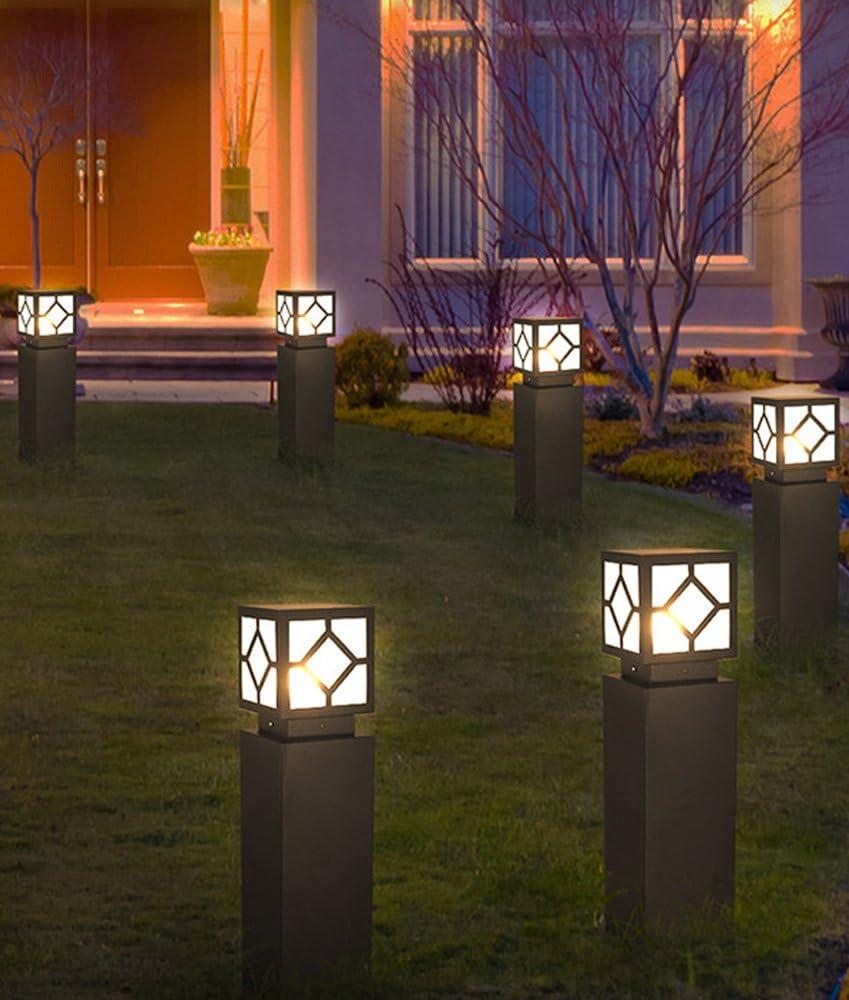 GUOQ Moderno Sencillo Aluminio Material jardín luces Aire libre Espacios Césped Lámpara Fit jardín Hotel pati Impermeable Baliza Gris Iluminación exterior alto Lámpara Subterránea: Amazon.es: Iluminación