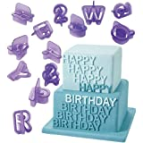 Botrong 40 Pcs Alphabet Letter Number Fondant Cake Biscuit Baking Mould Plastic Cookie Cutters