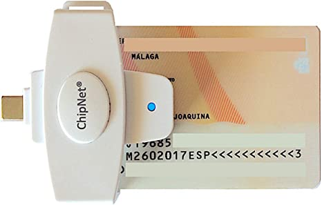 ChipNet iMICRO Nuevo Lector dni electronico para Mac USB C * Incluye Adaptador USB A * Mac/Windows * Funciona en Catalina *Similar a iBOX Plus * Empresa Española * Servicio Posventa Personal *: Amazon.es: Informática