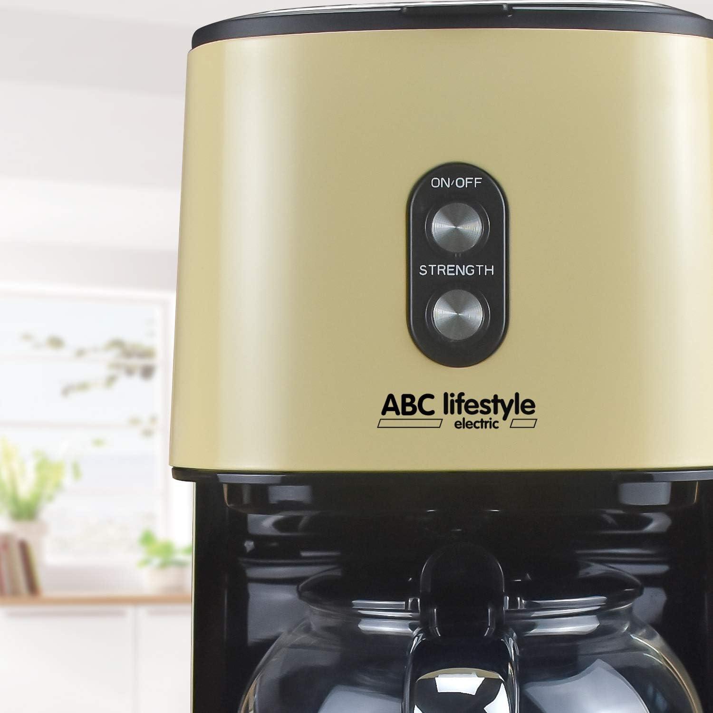 Cafetera de filtro retro con filtro permanente, hasta 12 tazas ...