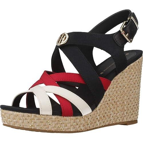TOMMY HILFIGER FW0FW04104 Iconic Elena Zapatos DE CUÑA Mujer: Amazon.es: Zapatos y complementos