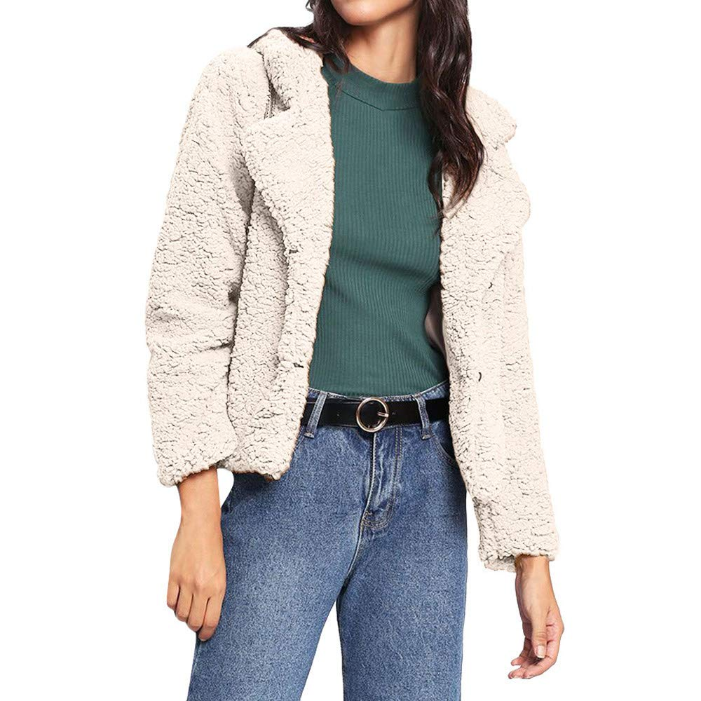Seaintheson Women's Coats OUTERWEAR レディース B07HRFLVNW X-Large|ベージュ ベージュ X-Large