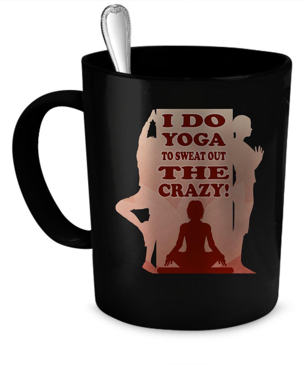 Amazon.com: Yoga Coffee Mug. Yoga gift 11 oz. black: Kitchen ...
