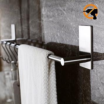 Kitlit Handtuchhalter Handtuchständer Selbstklebende Bad ohne Bohren ...