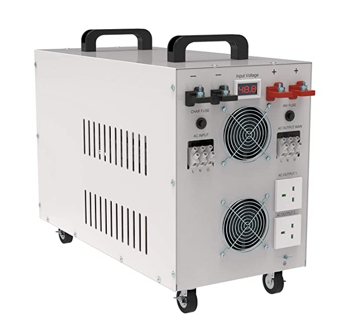 Solinba 5000W Inversor DC24v a AC230v 50Hz/Pico 15000w Pure Sine ...