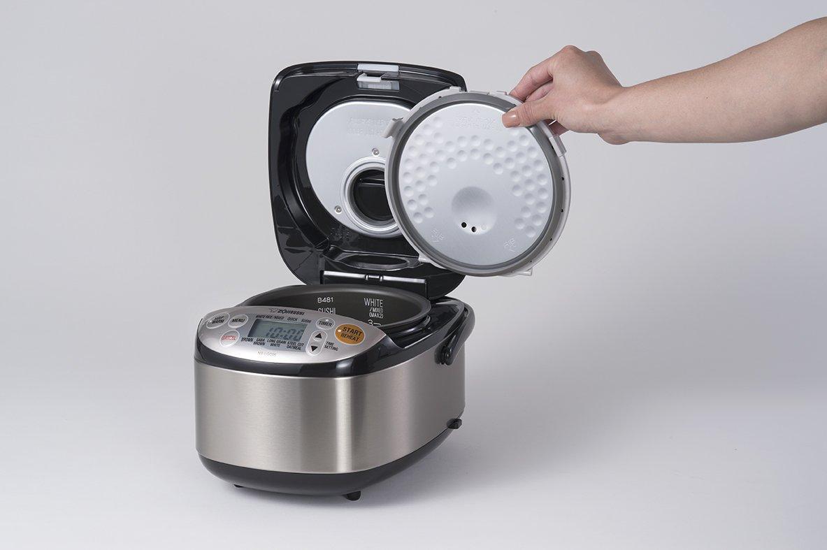 Stainless Black Zojirushi NS-LGC05XB Micom Rice Cooker /& Warmer