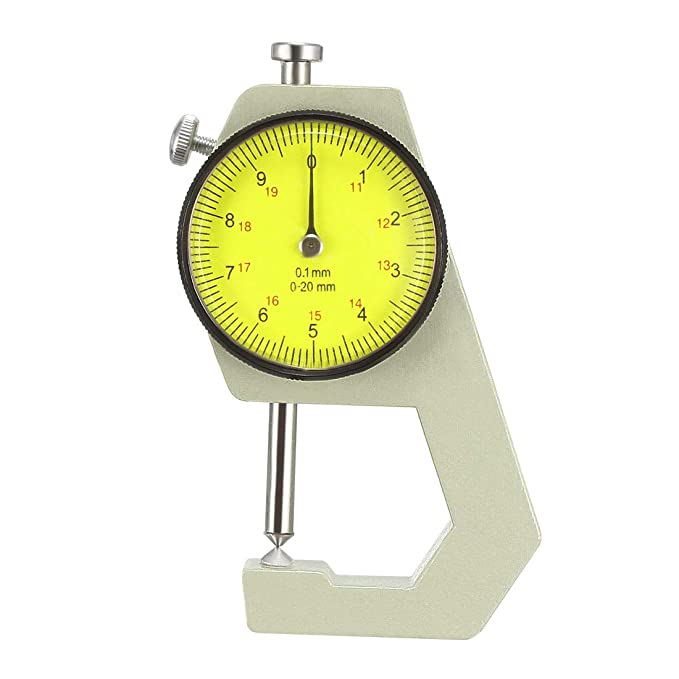 XJS 0 to 10mm Range Measuring Tool 0.1mm Resolution Round Dial Thickness Gauge C-01