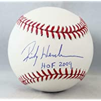 $277 » Autographed Rickey Henderson Ball - Rawlings OML w HOF 2009 Auth - Steiner Sports Certified - Autographed Baseballs
