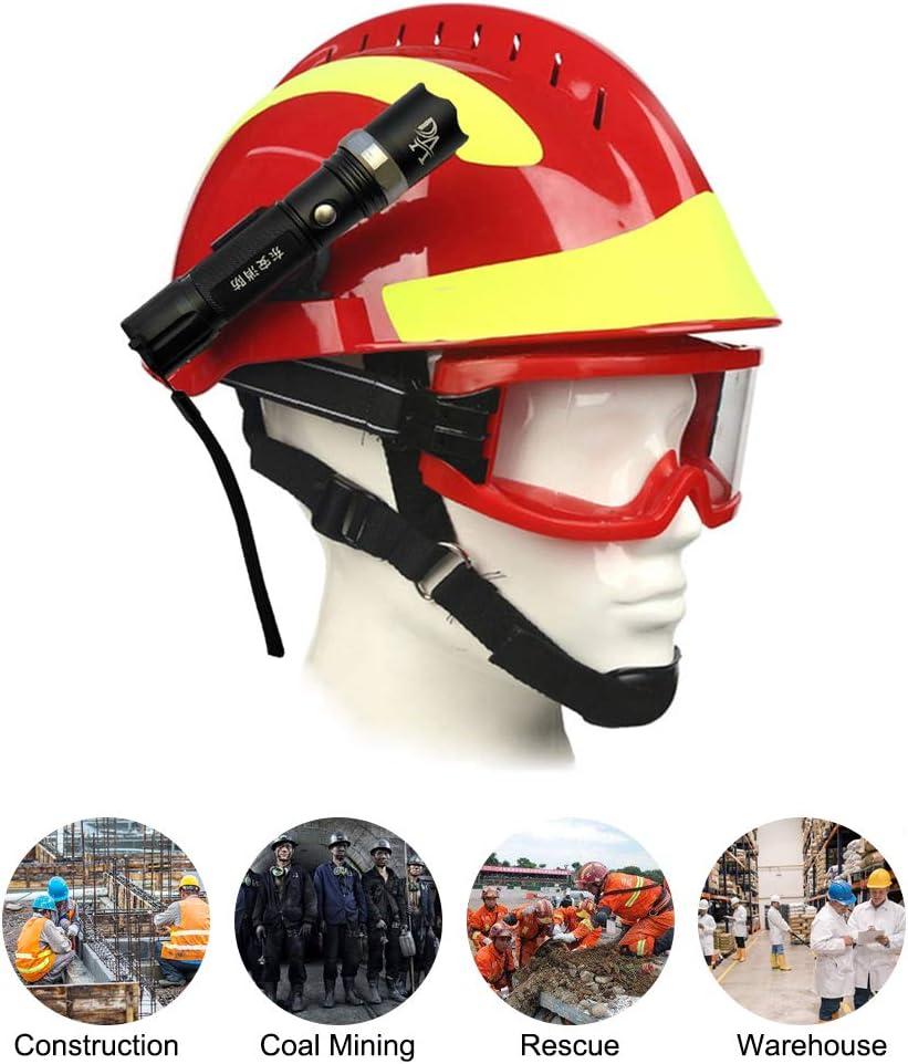 Extaum Rescue Helmet F2 Emergency Fire Fighter Cascos de Seguridad Lugar de Trabajo Protección contra Incendios Casco con Faro Delantero y Gafas de protección Anti-Impacto Resistente al Calor