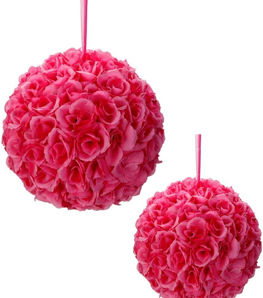 10 Pack Romántico rosa Pomander bolas de flores rosa novia para ...
