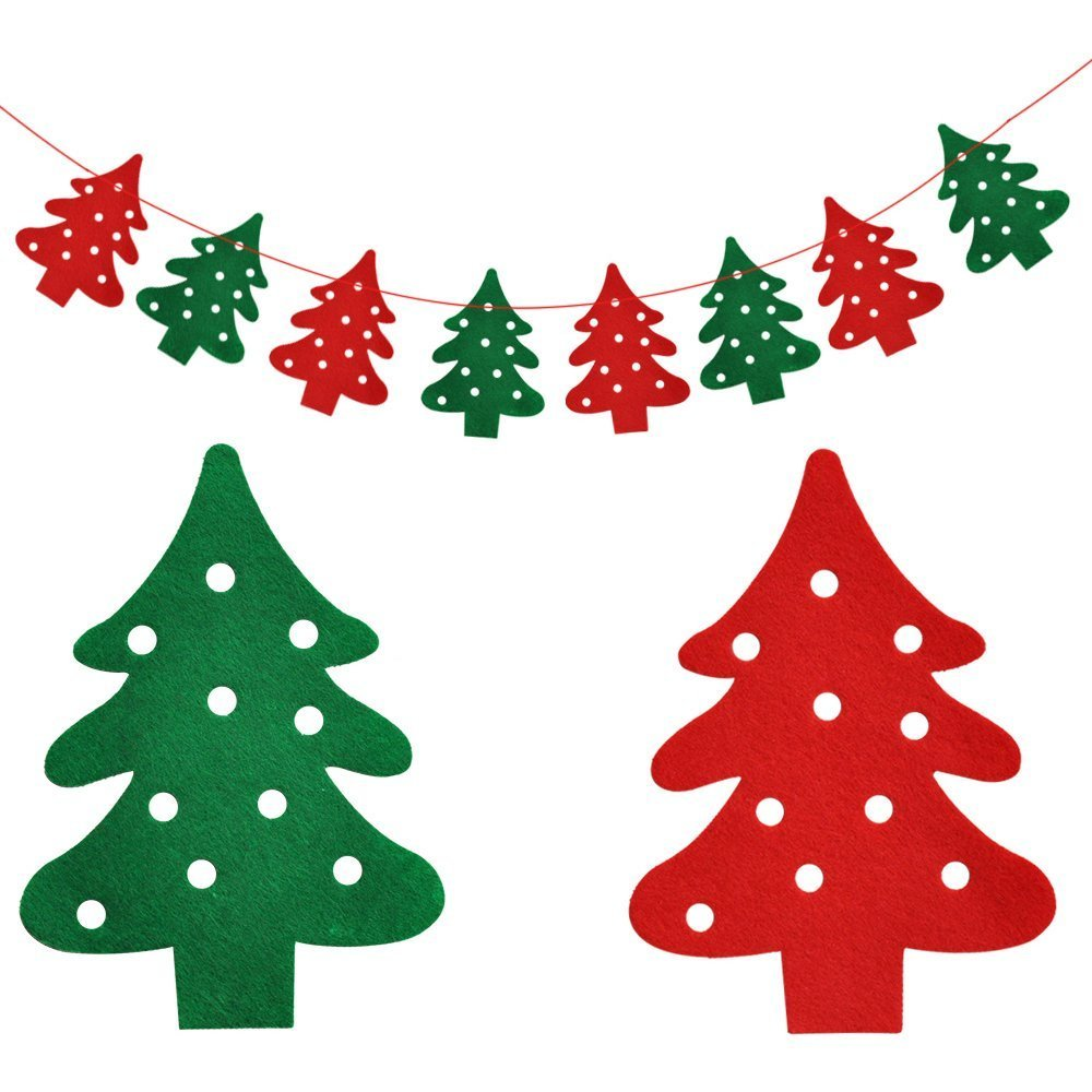 6pcs Wooden Ornaments Pendant Christmas Tree Hanging Decoration for Xmas Party Festival Wedding Home Wall Window Decor Gift Set Keersi