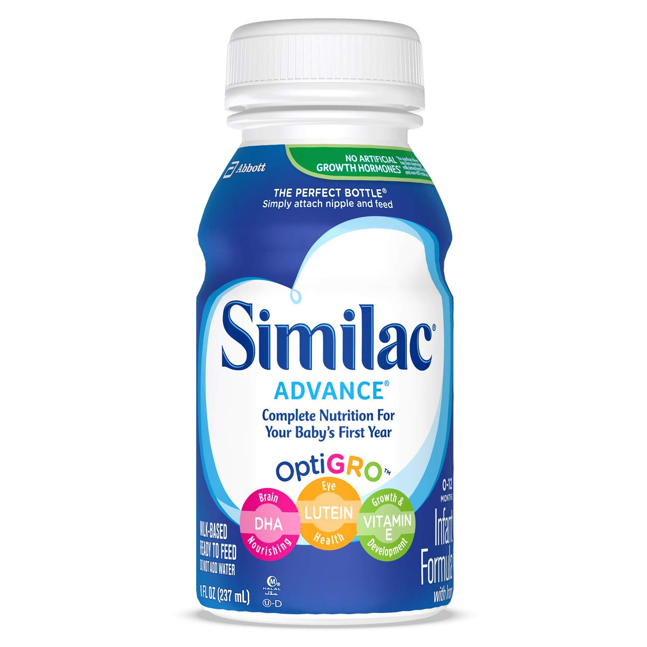 Similac Advance Infant Formula with Iron, Baby Formula, Ready to Feed, 8 fl oz (Pack of 24) by Similac (Image #1)