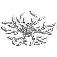 vidaXL Lámpara Original de Techo con Forma de Hojas Blanco y Transparente E14