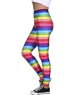 7922fd489d HDE Trendy Design Workout Leggings - Fun Fashion Graphic Printed Cute  Patterns
