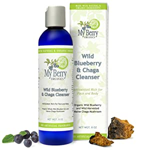 Wild Blueberry & Chaga Cleanser, Wild Blueberry and Wild Harvested Maine Chaga Mushroom