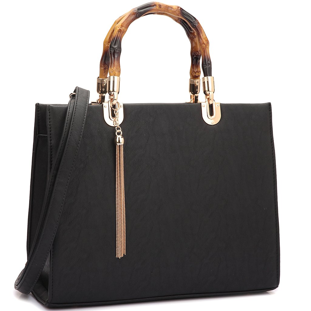 8970a89aaaa3 MKP Collection Bamboo Handle Smooth Leather Medium Satchel~Fashion  Satchel/Purse/Tote (2575)