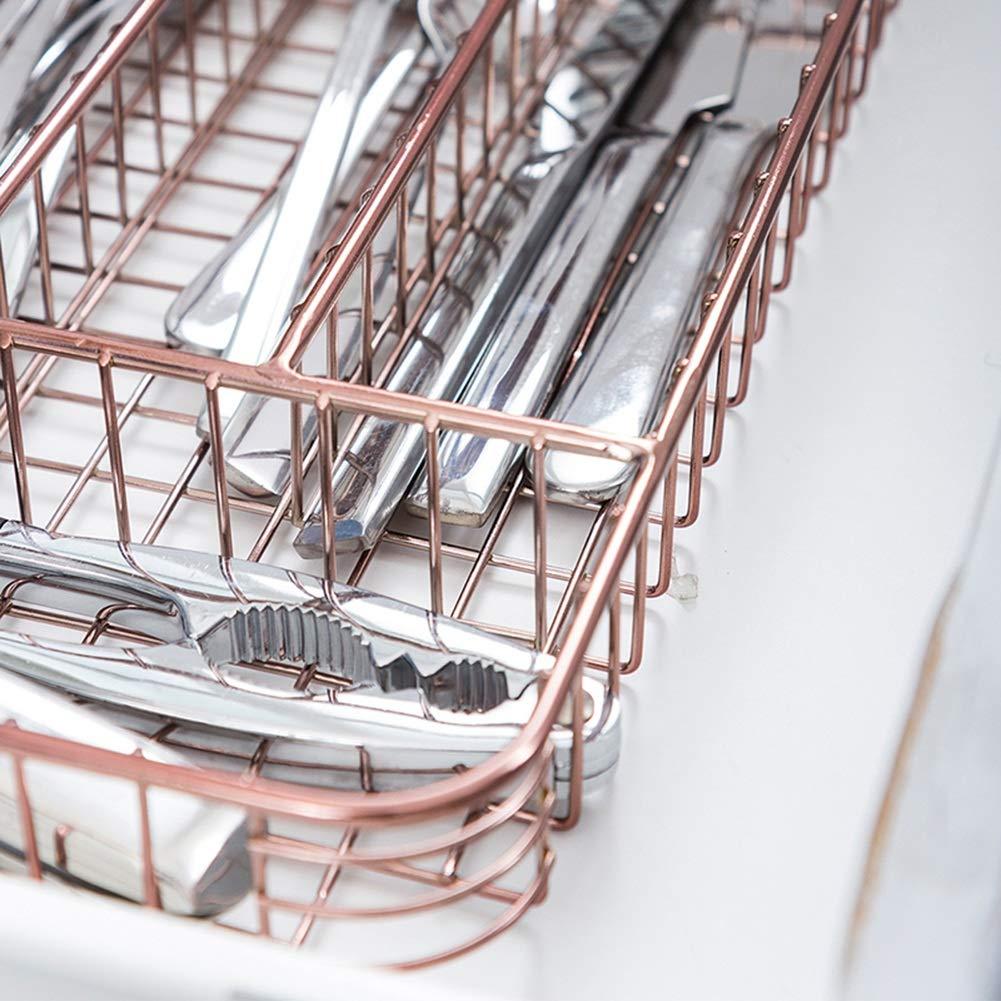 Shelf Storage Racks Pot Rack Storage Basket Shelf Baskets Cutlery Cage Storage Box Chopsticks Kitchen Drain Basket Rectangular Knife and Fork Basket ZHAOYONGLI by ZHAOYONGLI-shounajia (Image #6)