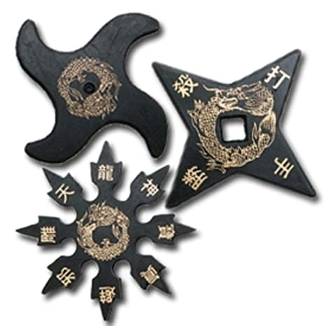 Amazon.com: Set of 3 Traditional Design Ninja Rubber ...