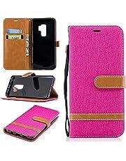 Feyyxi Hoesje voor Samsung Galaxy S9+ (S9 Plus) Case met Card Slots Flip Magnetische beschermhoes Telefoonhoes voor Galaxy S9+ (S9Plus) -