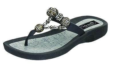 ea48652d5 Grandco Women s Cayman Grey Thong Sandal 6 M US