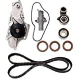 Timing Belt Kit with Water Pump - Compatible with 2003-2017 Honda Accord, Pilot, Odyssey, Ridgeline, Acura MDX, RDX, RL…